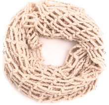 Load image into Gallery viewer, Mesh Knit Infinity Scarf