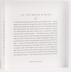 To The Moon & Back - Mini Mantra Block