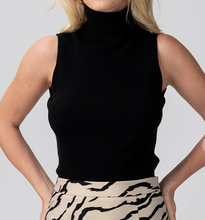 Load image into Gallery viewer, Rib Knit Sleeveless Turtleneck Top