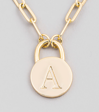 Alphabet Lock Necklace