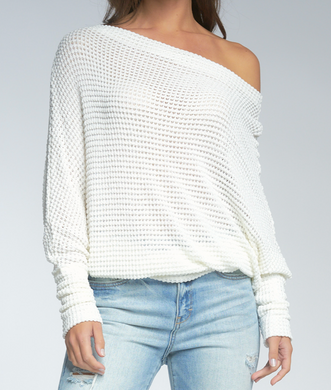 Ivory Dolman Scoop Top