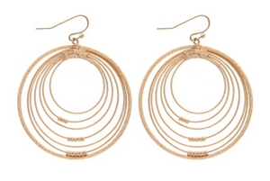 Gold Hoops with Hoops