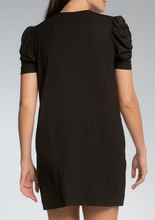 Load image into Gallery viewer, Black T-Shirt Dress
