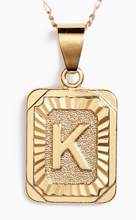 Load image into Gallery viewer, Bracha Initial Card Necklace