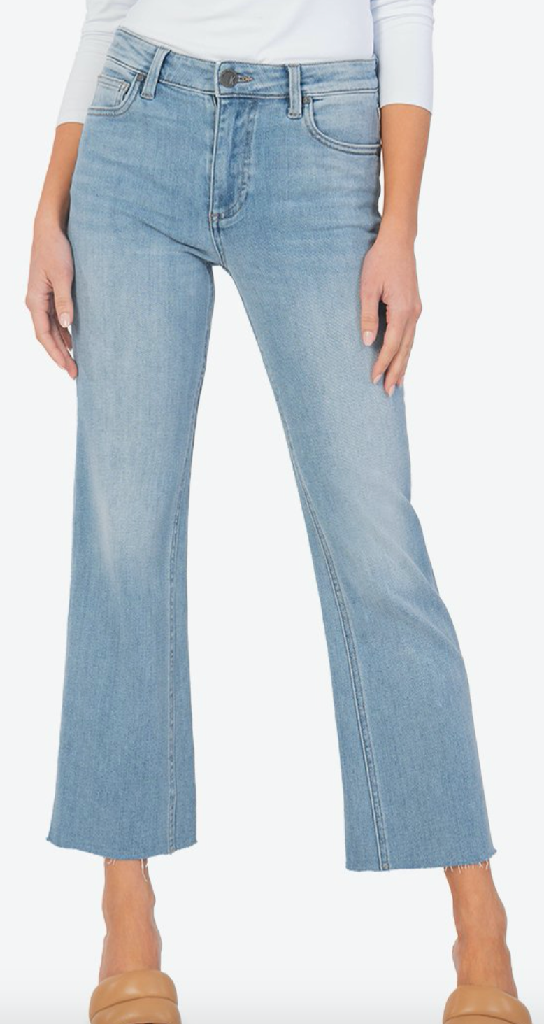 Kelsey High Rise Ankle Flare Jeans