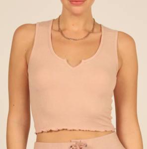 Blush Ribbed Tank