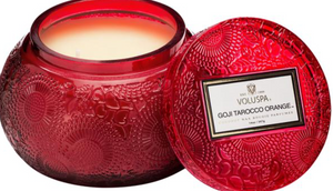 GOJI & TAROCCO ORANGE EMBOSSED JAR
