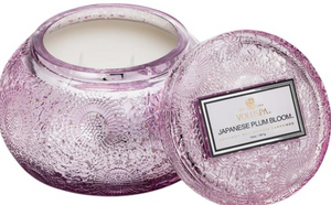 Japanese Plum Embossed Jar