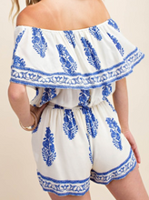 Load image into Gallery viewer, PAISLEY BLUE ROMPER