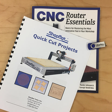 """CNC Router Essentials"" Book - ShopBot Bundle"