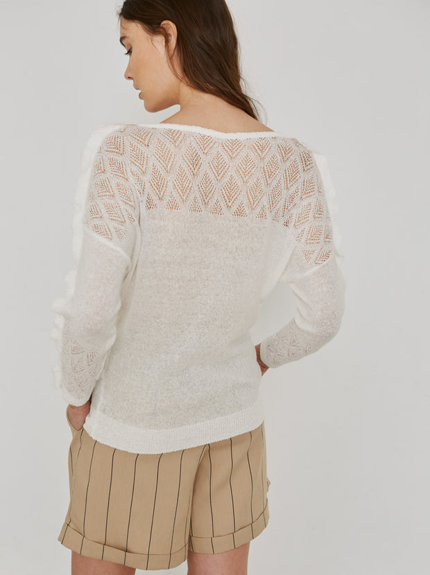 Openwork Set Sweater