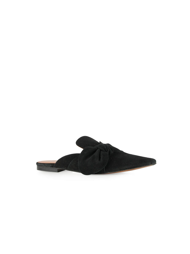 Maxi Bow Suede Mule