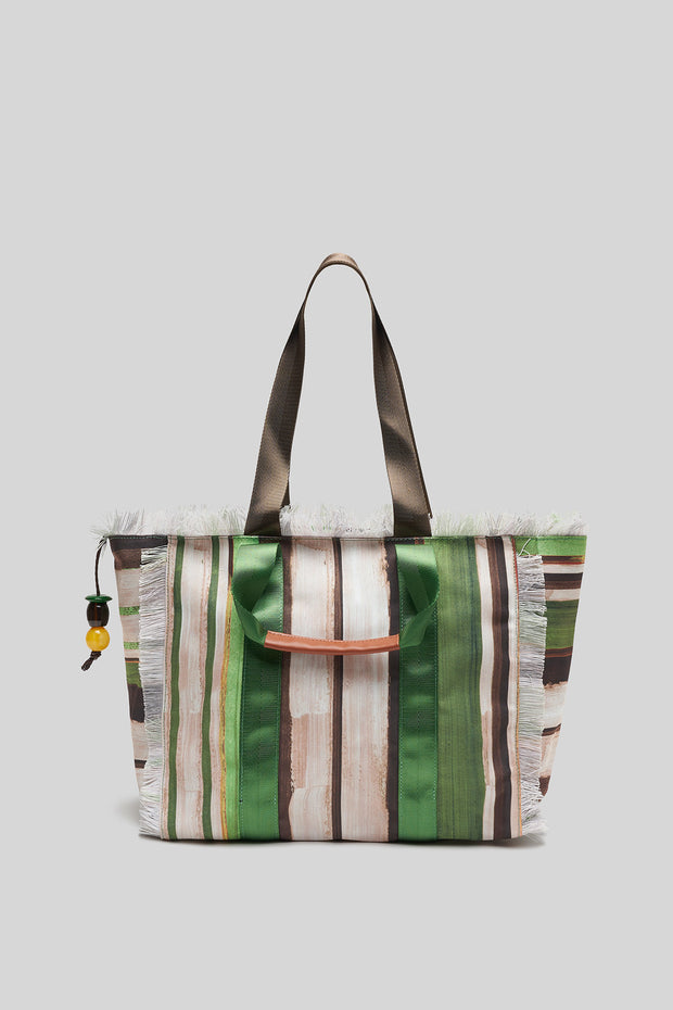 Painted Stripes Shopping Bag