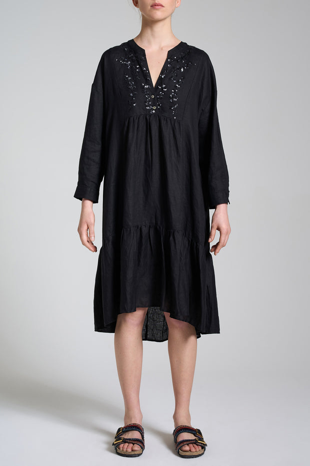Ramage On Linen Dress