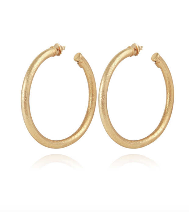 MAORO HOOP EARRINGS LARGE
