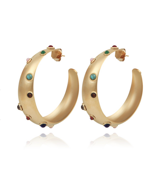 Leontia hoop earrings