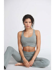 ORGANIC COTTON RACER BACK SPORT BRA