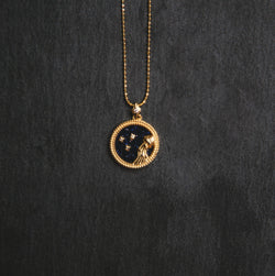 Asta Zodiac Star Sign Necklace - Blue Sandstone