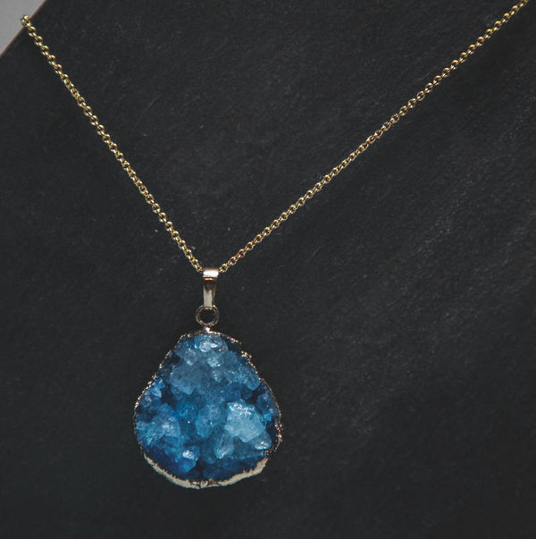 Beatrice Crystal Druzy Quartz Necklace - Luna Charles