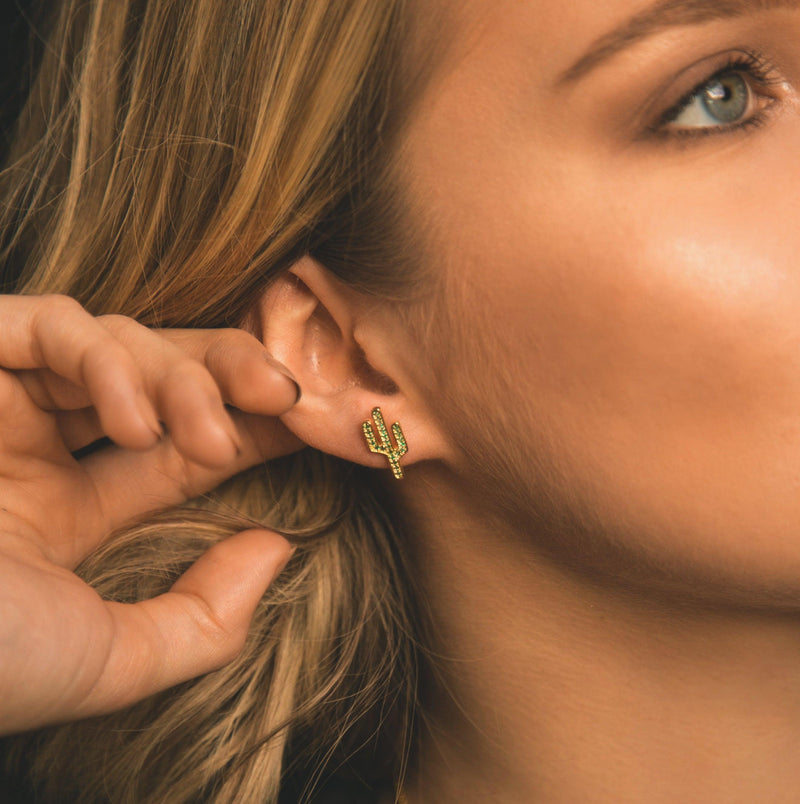 Carla Cactus Stud Earrings - Luna Charles