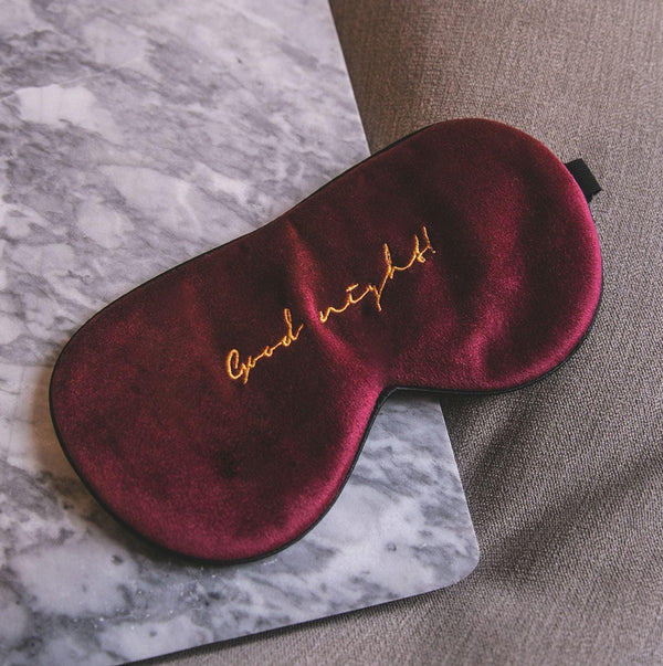 Chessa Velvet Sleep Eye Mask - Red