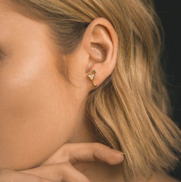 Cosmo Cocktail Stud Earrings - Luna Charles