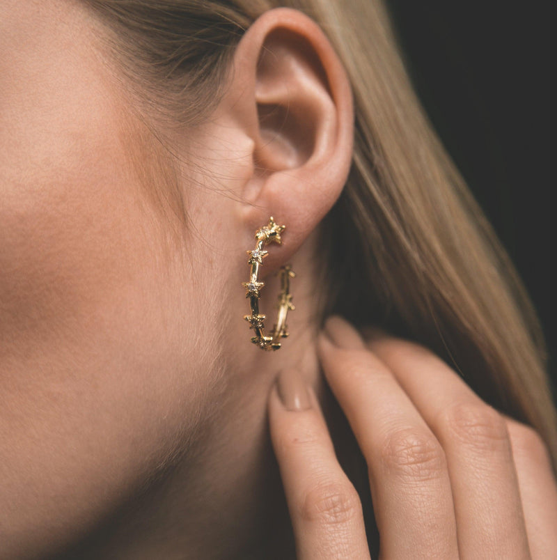 Delilah Star Hoop Earrings