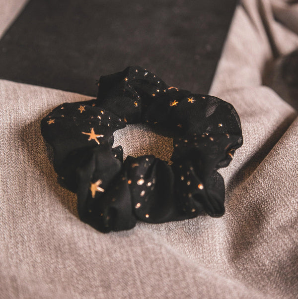 Demi Star Hair Scrunchie - Black
