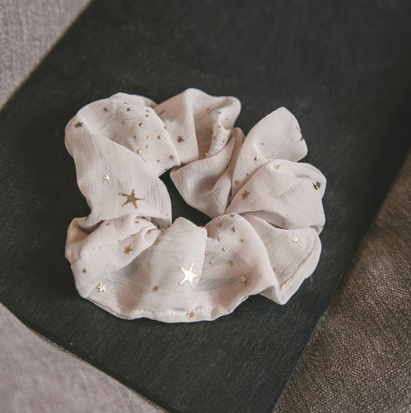 Demi Star Hair Scrunchie - Taupe