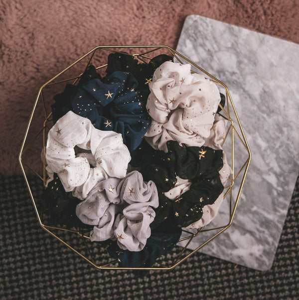 Demi Star Hair Scrunchie - Navy