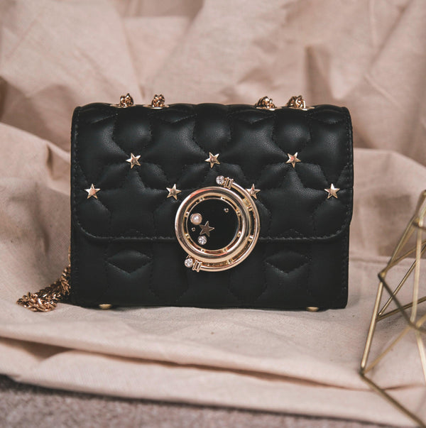 Dora Star Shoulder Bag - Black