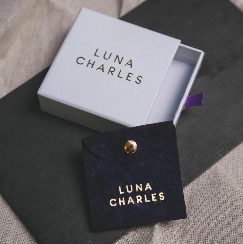 Lyra Star Hoop Earrings - Luna Charles