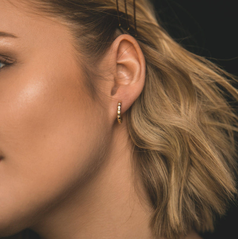 Grace Star Studded Hoop Earrings - Luna Charles