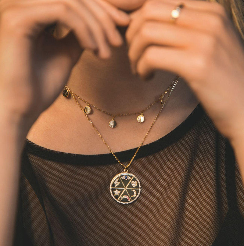 Lulu Moon Phase Necklace - Luna Charles