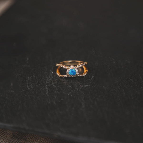 Jasmine Opal Gemstone Ring