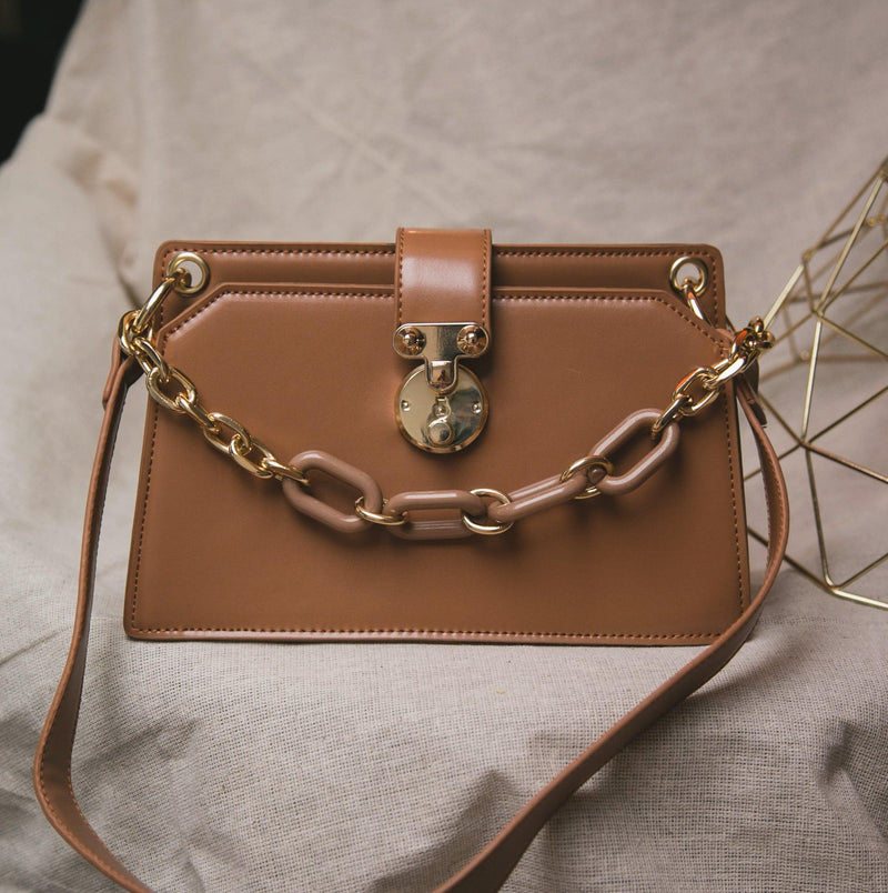 Lexi Chain Shoulder Bag - Tan