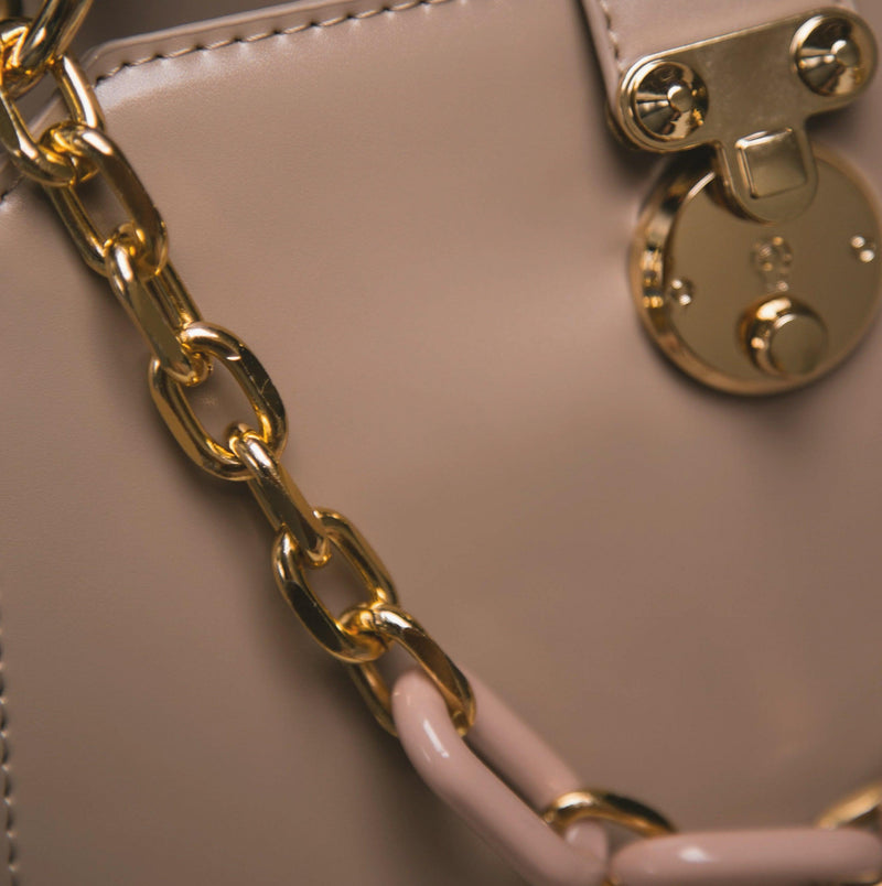 Lexi Chain Shoulder Bag - Taupe