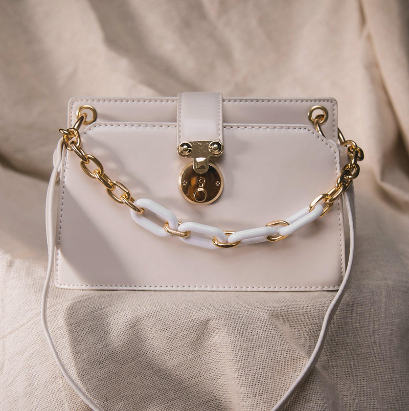 Lexi Chain Shoulder Bag - White