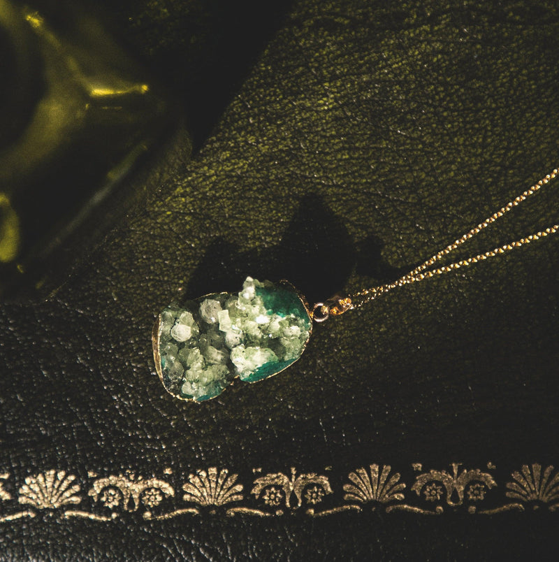 Melia Crystal Druzy Quartz Necklace - Luna Charles
