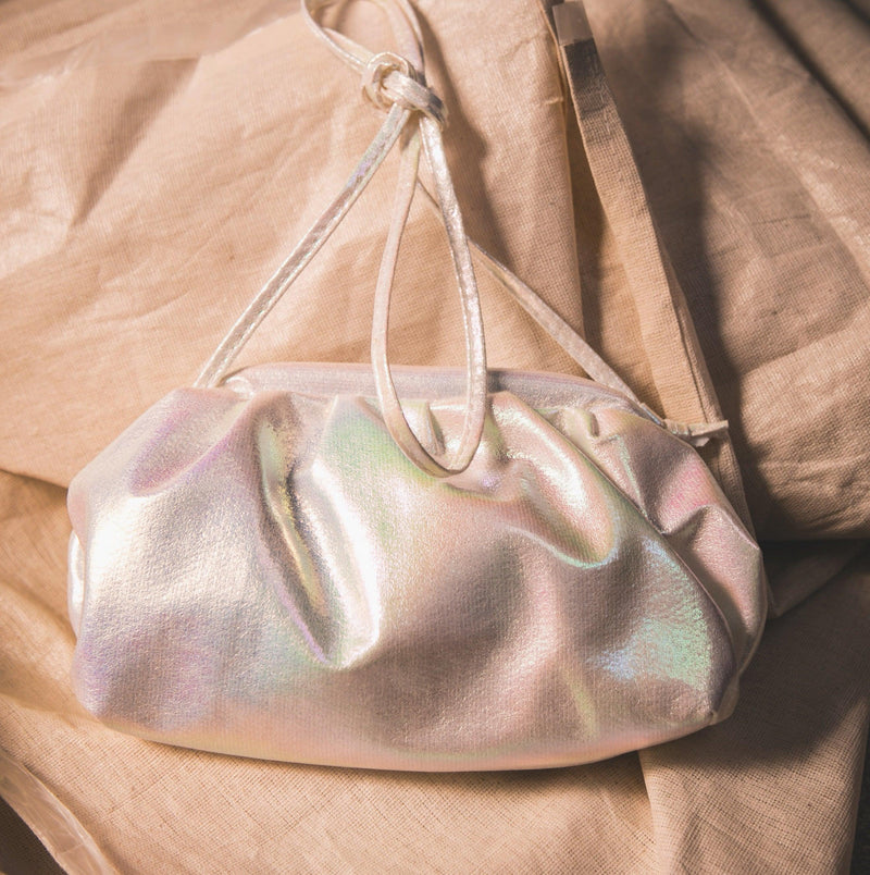 Melody Iridescent Cloud Bag - White