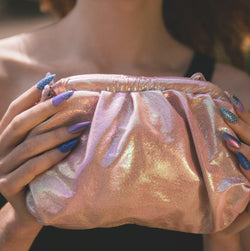 Melody Iridescent Cloud Bag - Pink
