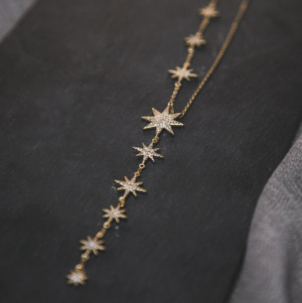 Juliet Star Burst Y Drop Necklace