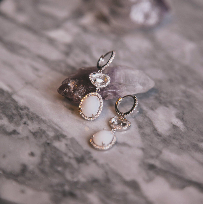 Eve Moonstone Drop Earrings