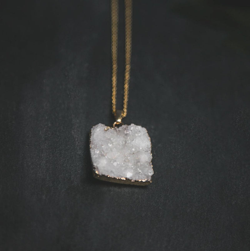 Ophelia Crystal Druzy Quartz Necklace - Luna Charles