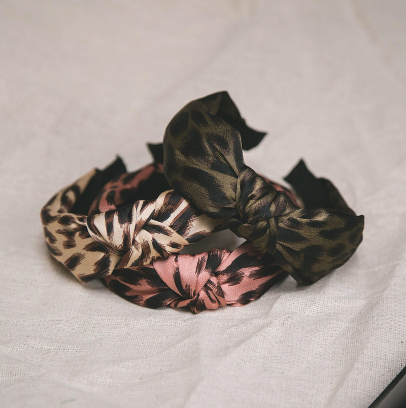 Samiya Knot Leopard Hairband - Natural