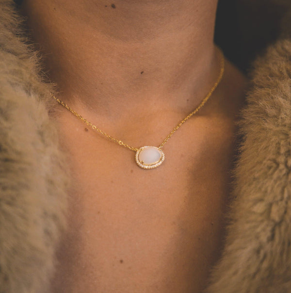 Bianca Moonstone Pendant Necklace