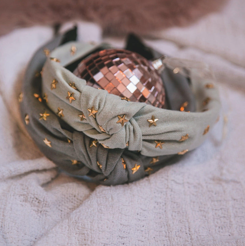 Bella Star Headband - Grey