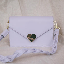 Willow Heart Clasp Handbag - Lilac