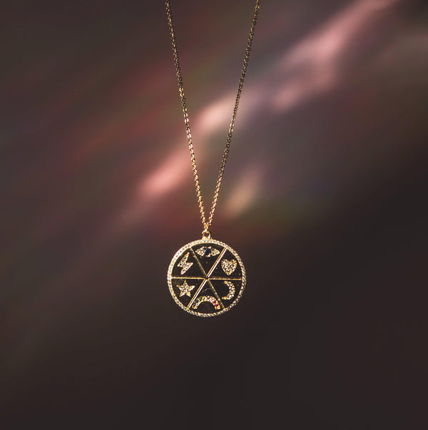 Zahara Zodiac Coin Necklace - Luna Charles