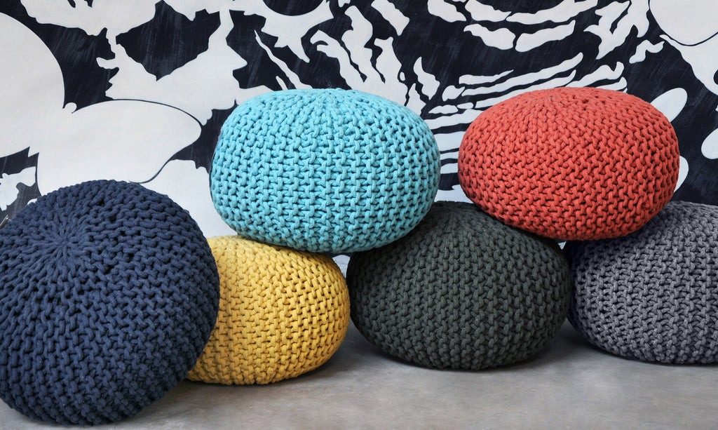 Knitted & Ethnic Pouffes